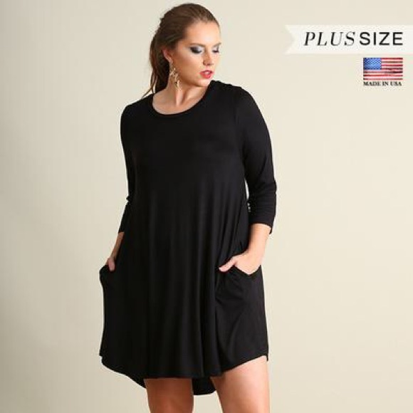 Dresses | Plus Size Scoop Neck Empire Waist Dress | Poshmark